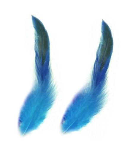 Dark Turquoise Rooster Schlappen Half Bronze Feathers