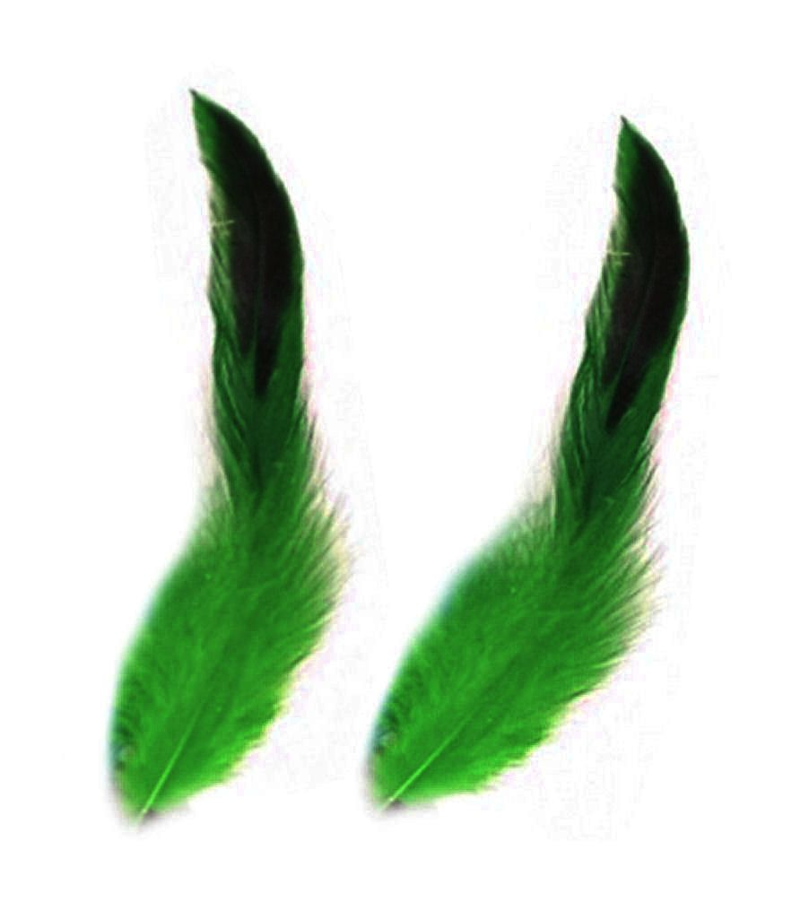 Green Rooster Schlappen Half Bronze Feathers