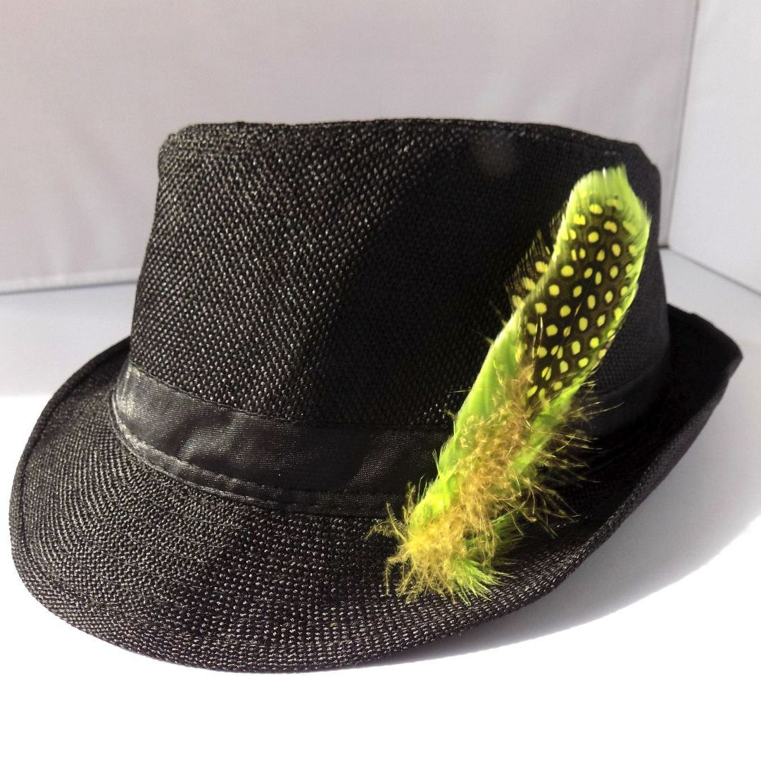 Lime Green Decorative Hat Feather Brooch