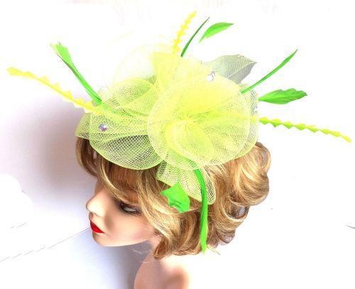 Lime Green Wedding Fascinator