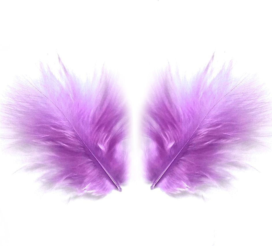Lavender Lilac Marabou Feathers - Small