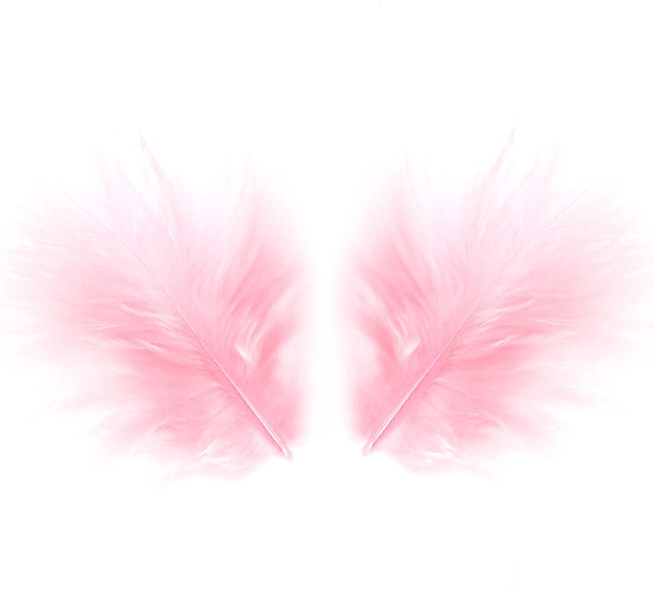 Baby Pink Marabou Feathers - Small
