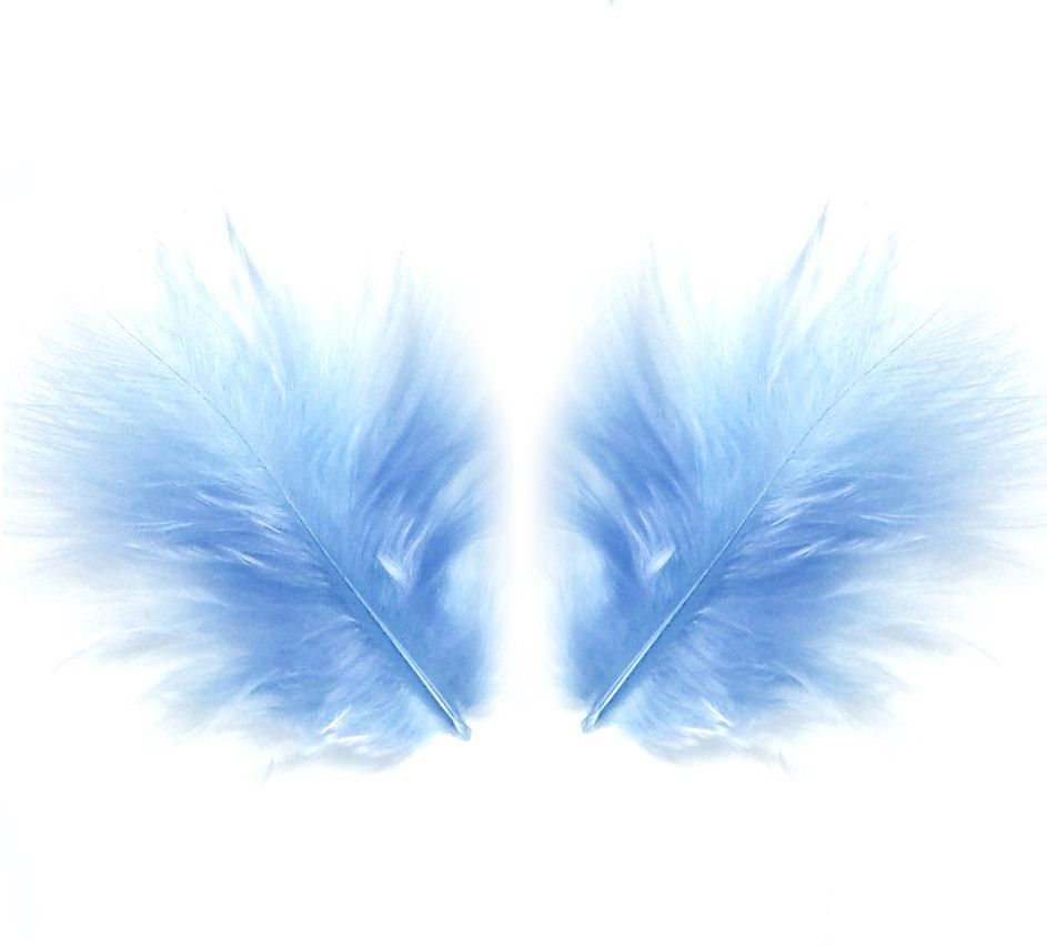 Pale Blue Marabou Feathers - Small