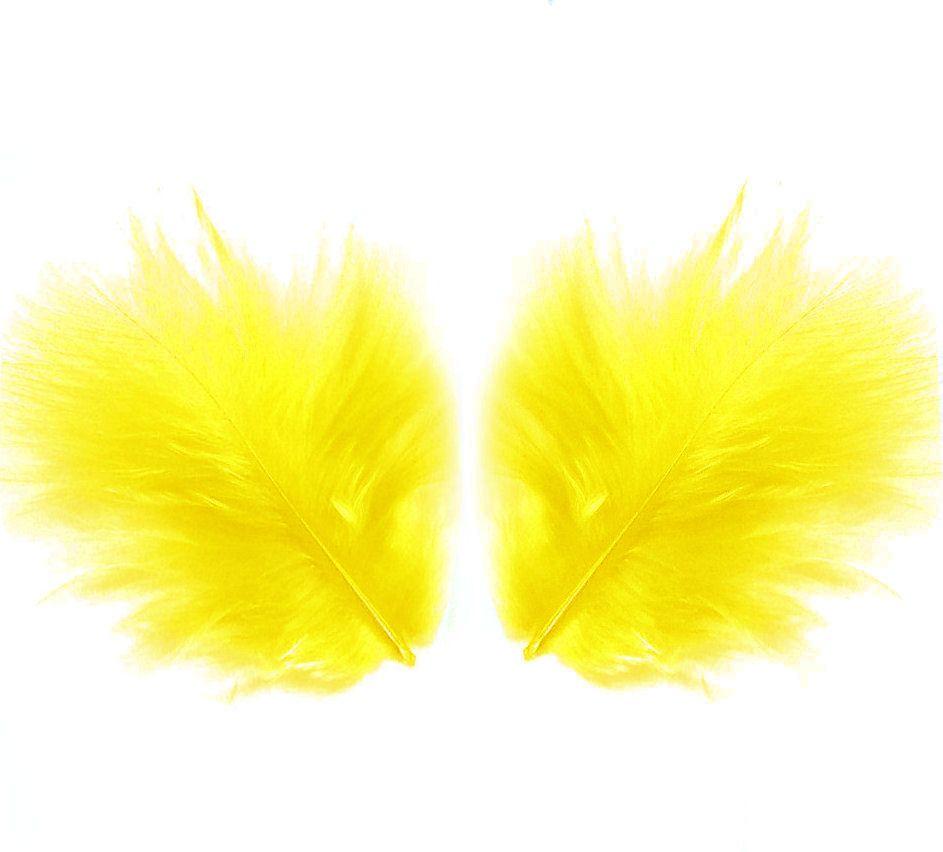Yellow Marabou Feathers - Small