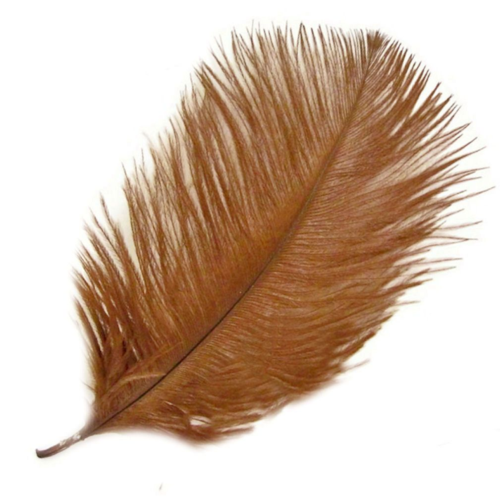 Tawny Brown Ostrich Feather