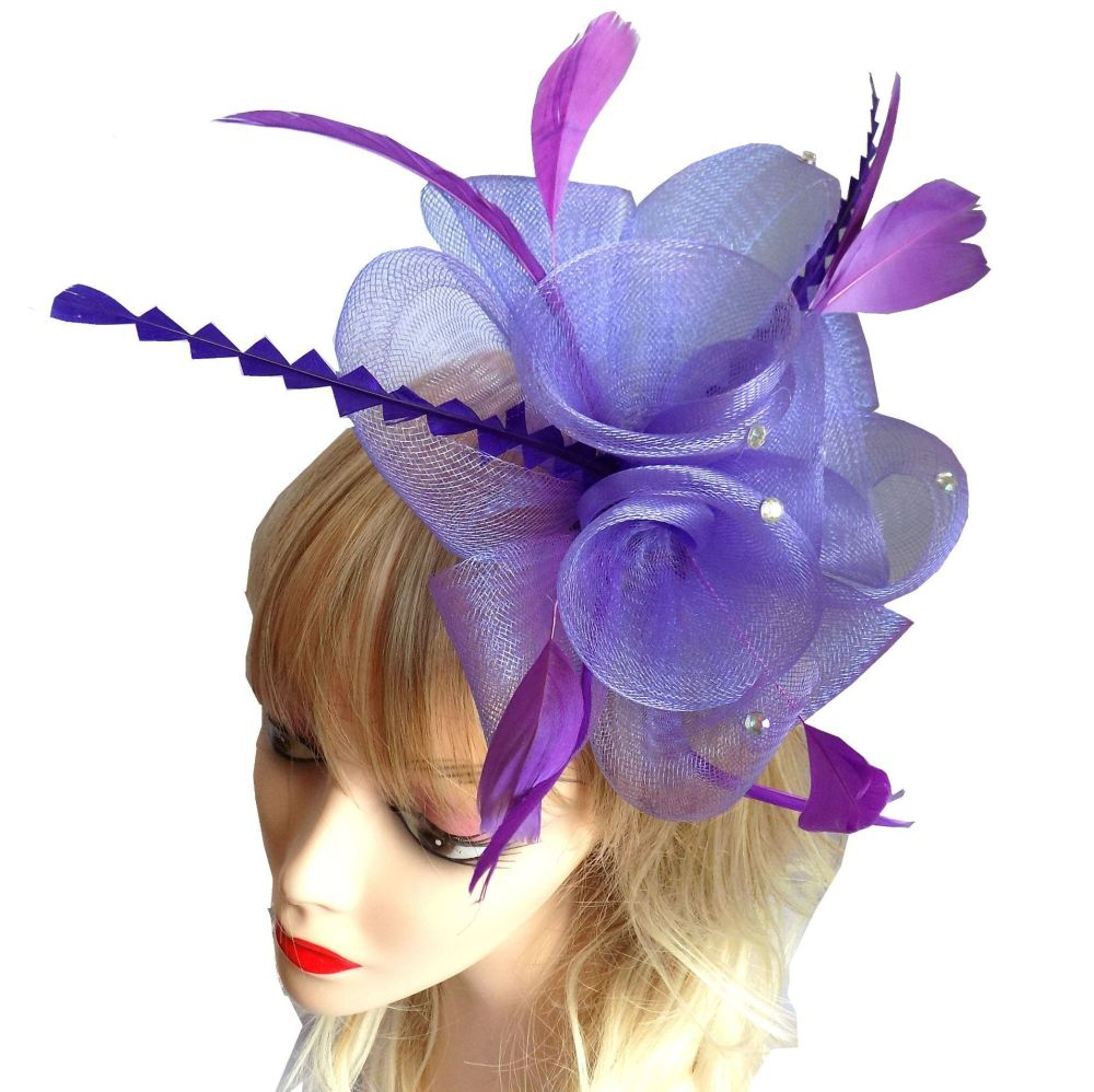 Purple Wedding Fascinator