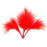 Red Medium Marabou Feathers