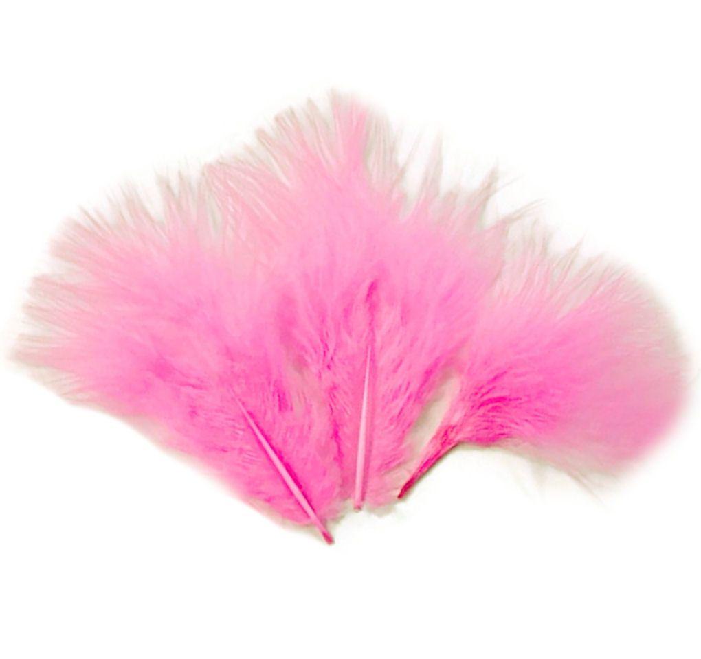 Candy Pink Medium Marabou Feathers