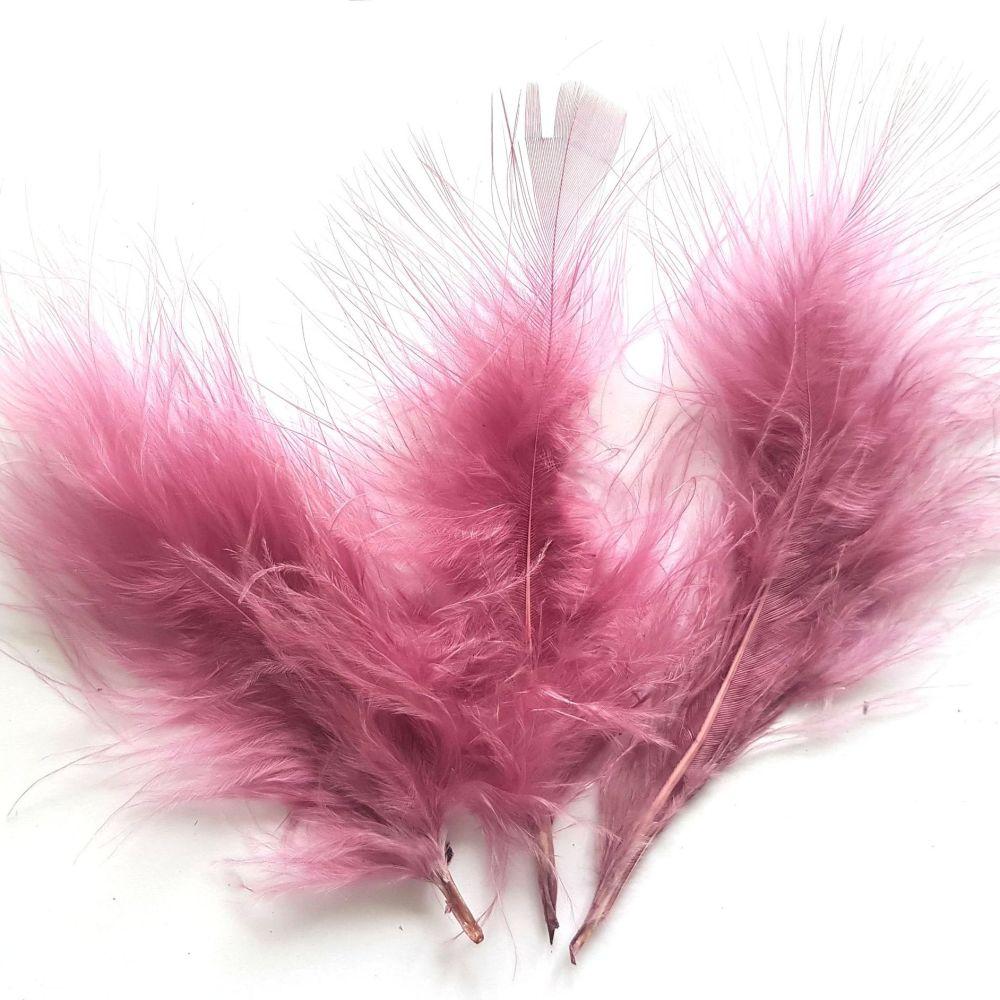 Mauve Pink Medium Marabou Feathers