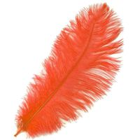 Coral Red Ostrich Feather