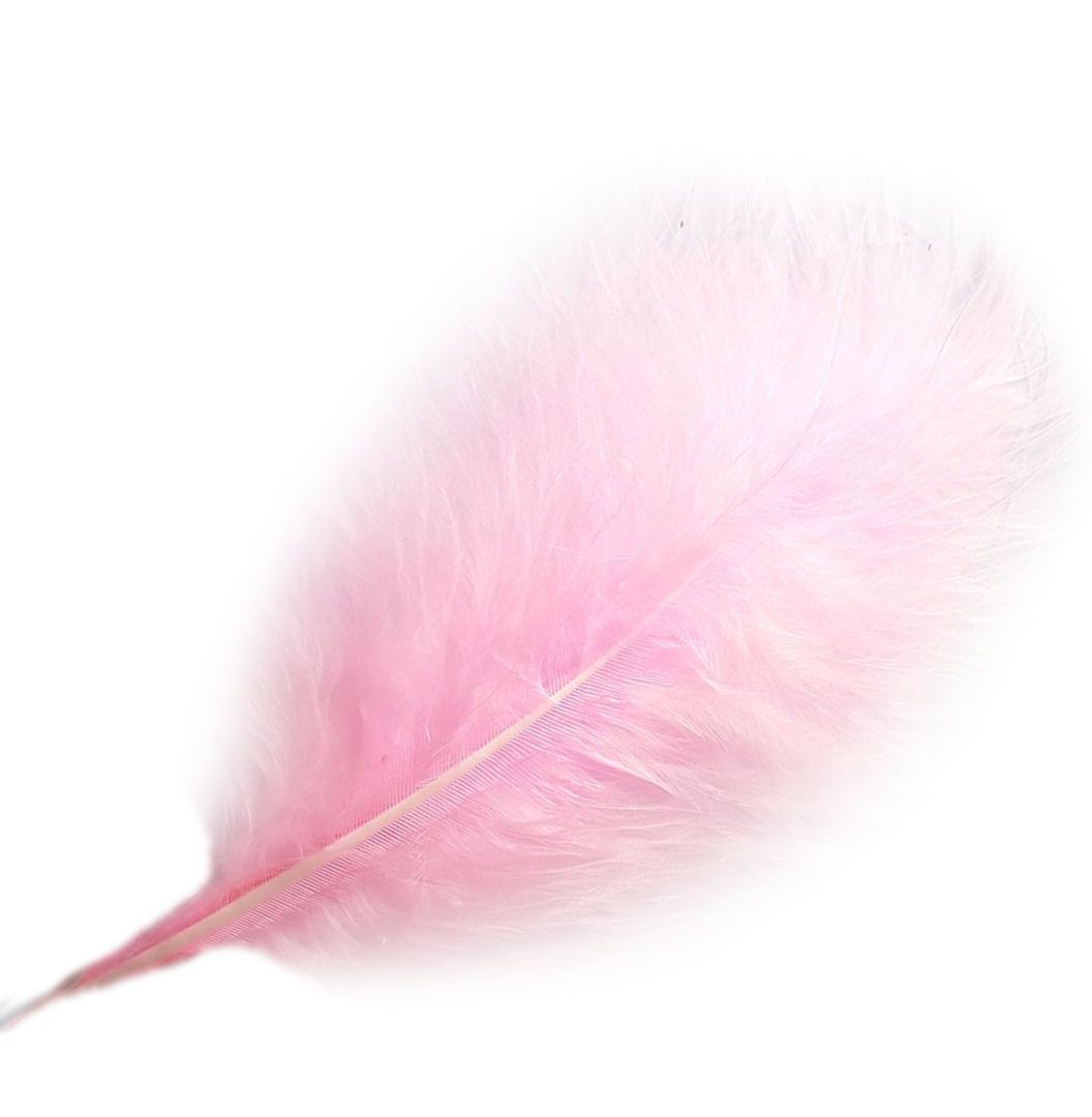 Baby Pink Large Marabou Feathers