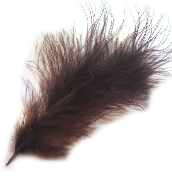 Brown Marabou Feathers
