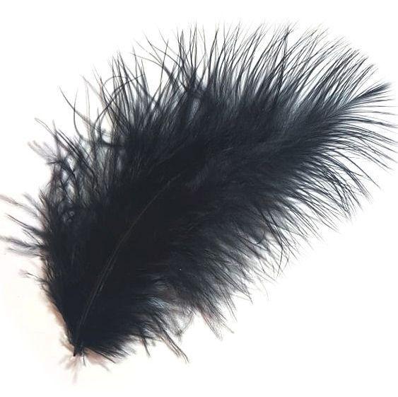 Black Marabou Feathers