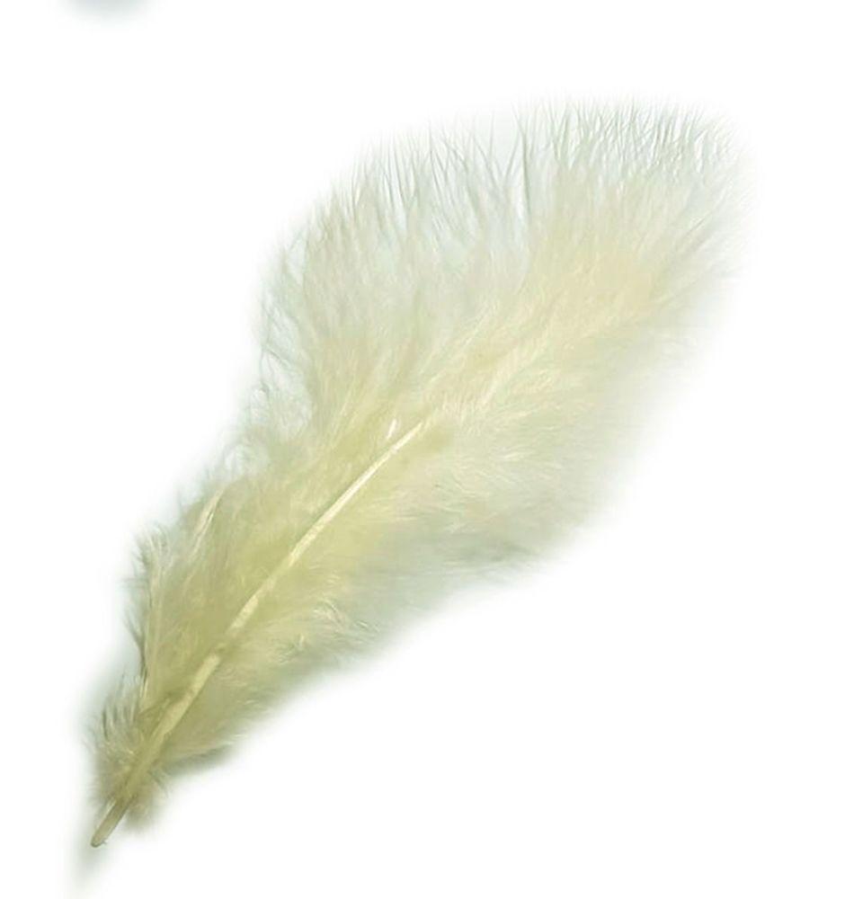 Cream Marabou Feathers