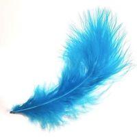 Dark Turquoise Marabou Feathers