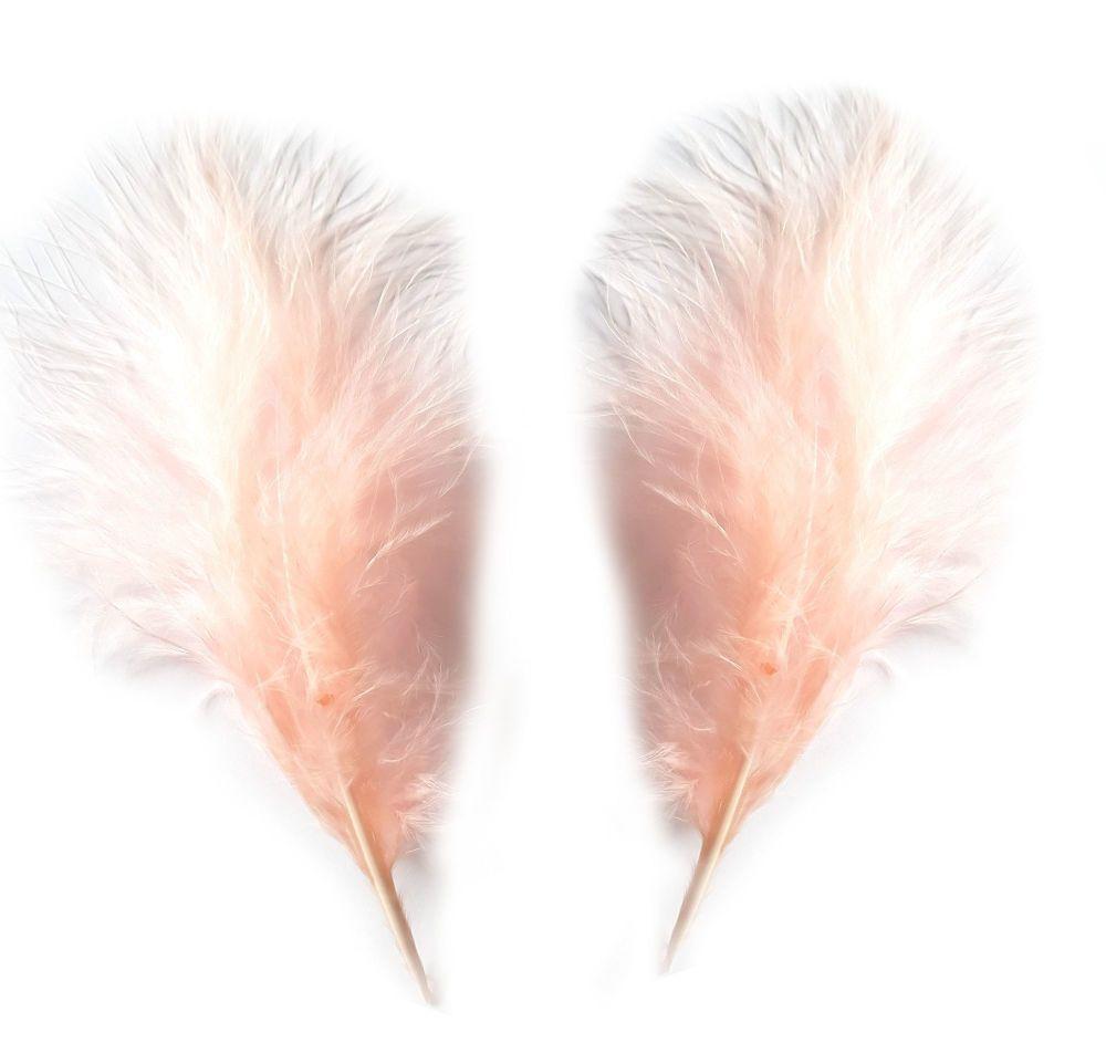 Peachy Pink Medium Marabou Feathers