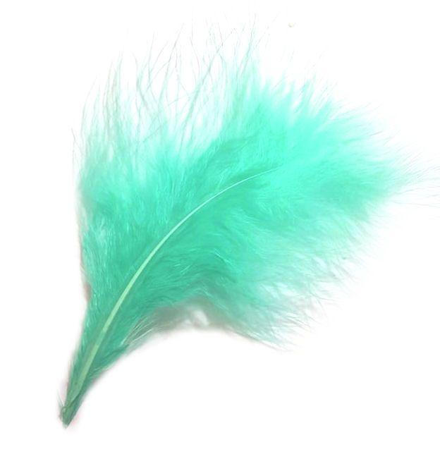Mint  Marabou Feathers