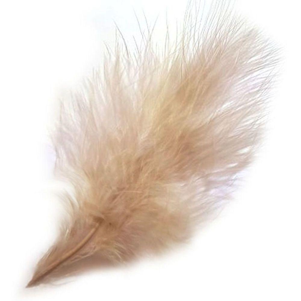 Beige Medium Marabou Feathers