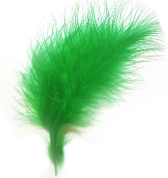 Kelly Green Medium Marabou Feathers