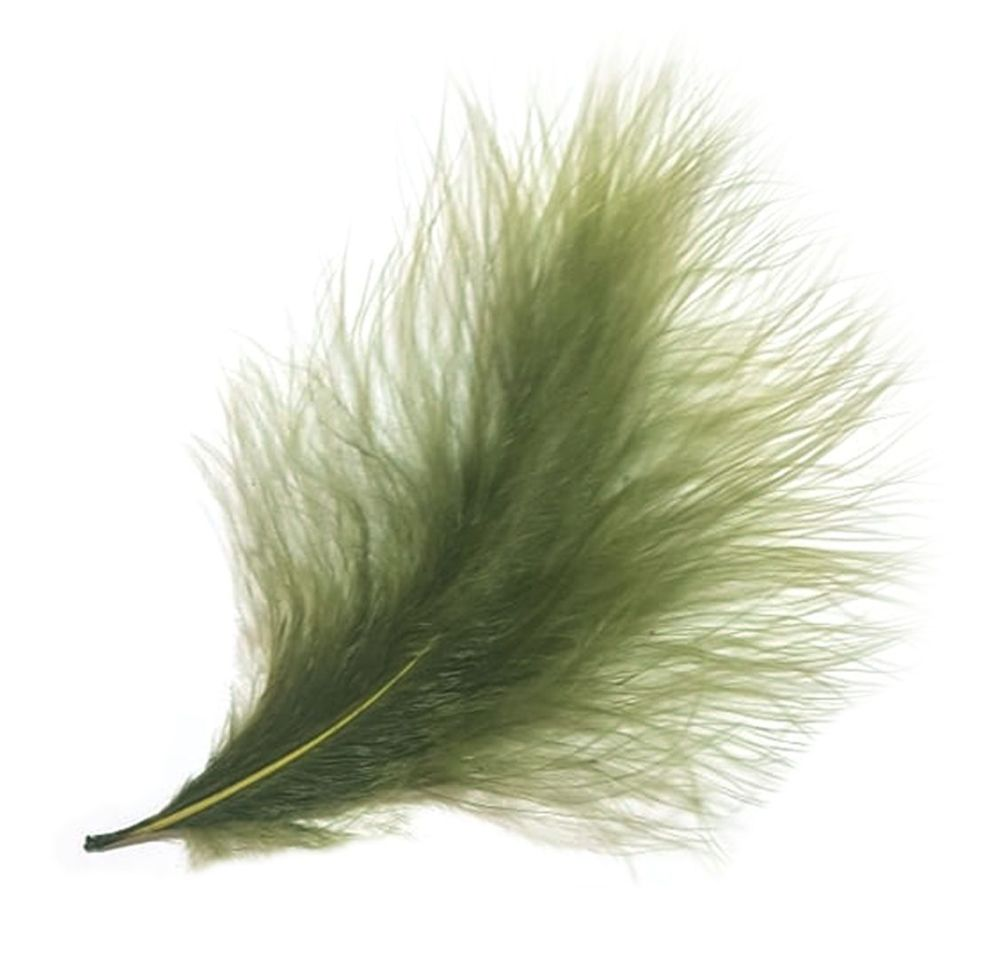 Olive Green Marabou Feathers