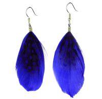 Royal Blue Feather Earrings