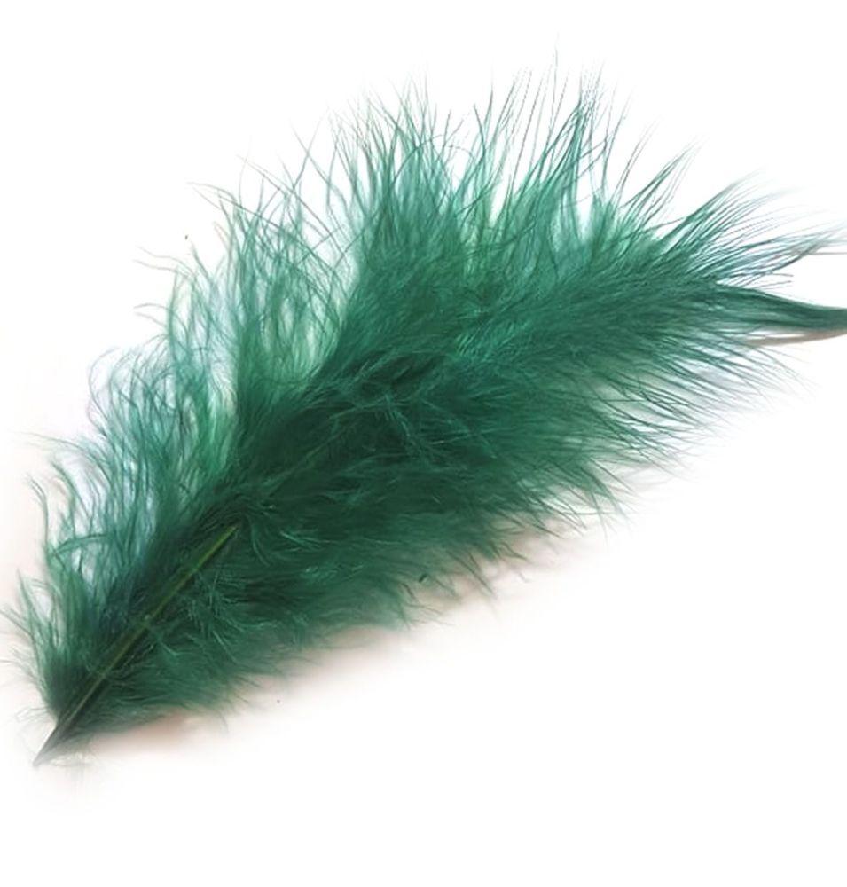 Dark Green Large Marabou Feathers