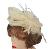 Ivory Wedding Fascinator Clip and Hairband