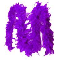 Purple Feather Boa Fashion Accessory