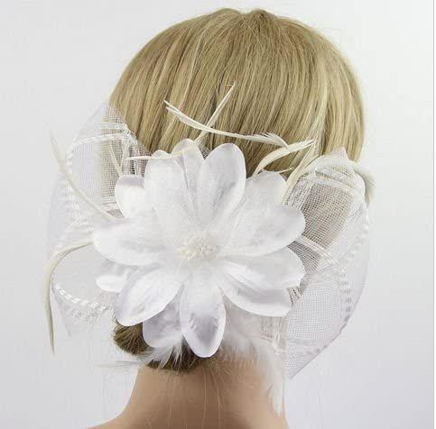 White Feather Hair Clip