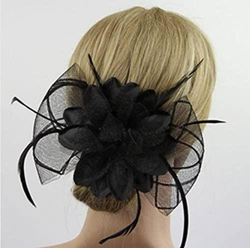 Black Feather Hair Clip