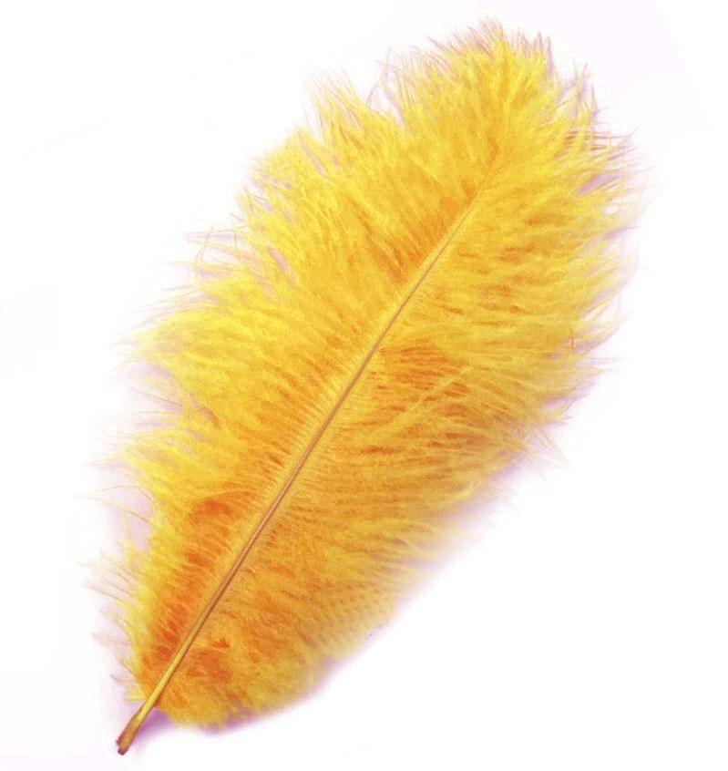 Egg Yolk Yellow Ostrich Feather