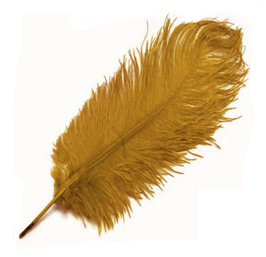 Mustard Yellow Ostrich Feather