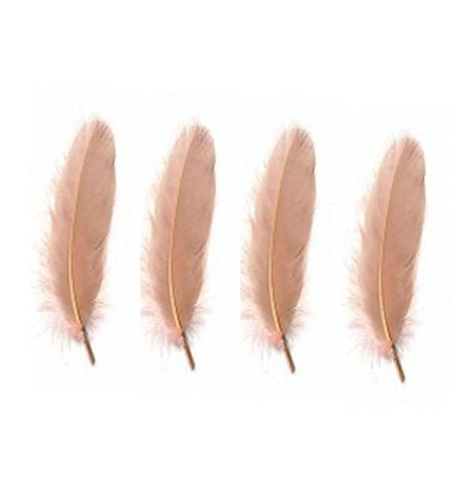 Goose Satinette Feathers in Dusky Rose Pink x 10