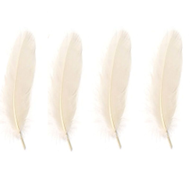 Goose Satinette Feathers in White