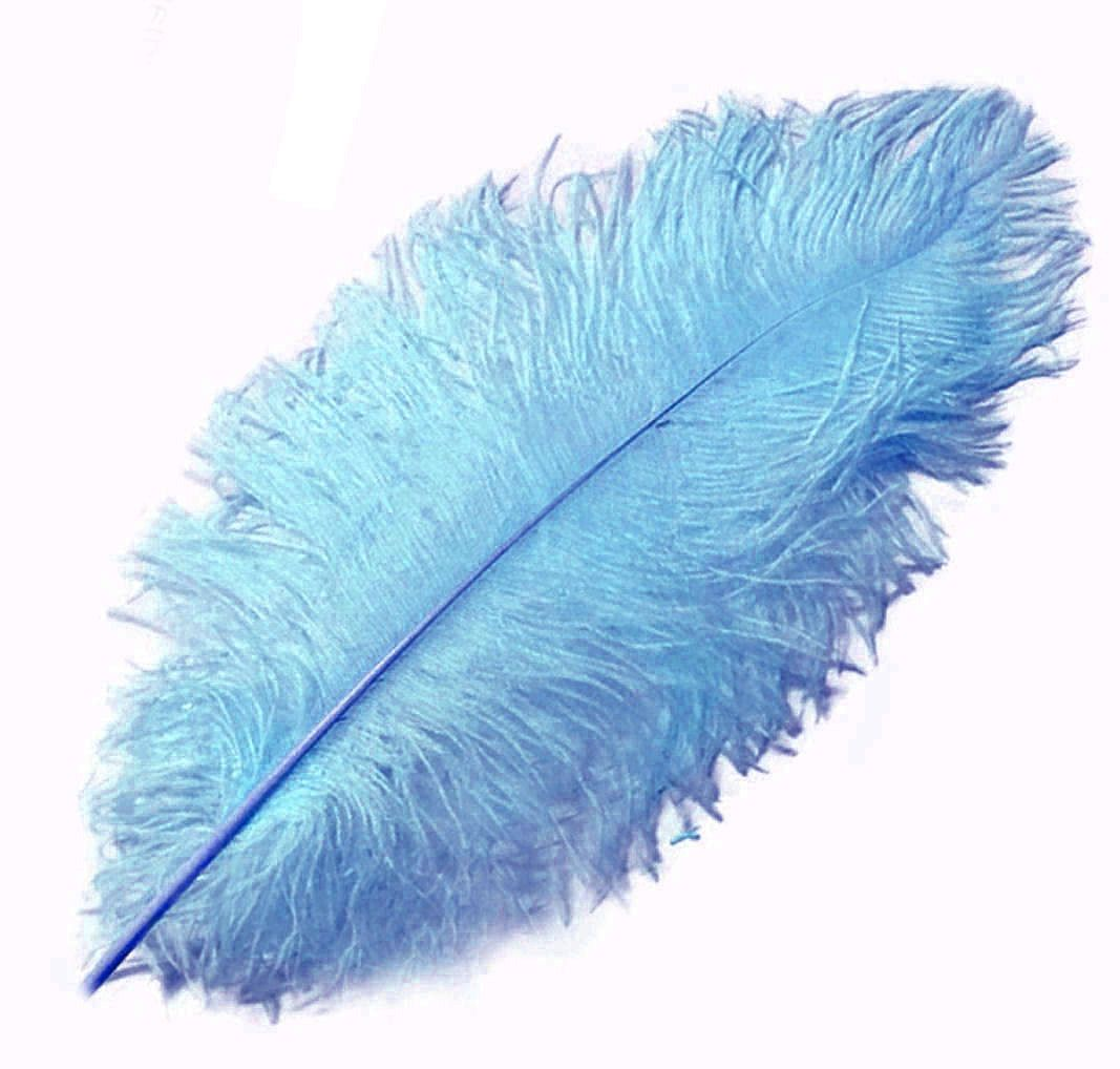 Pale Blue Ostrich Feather