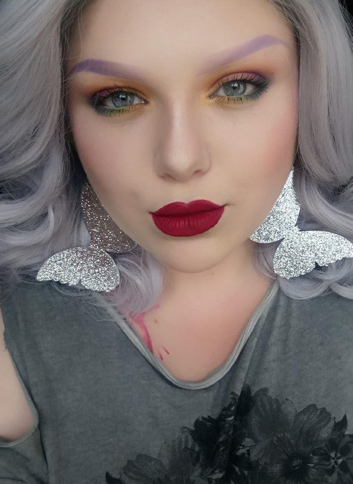 Glitter Butterfly Earrings