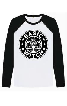 Basic Witch Baseball Top