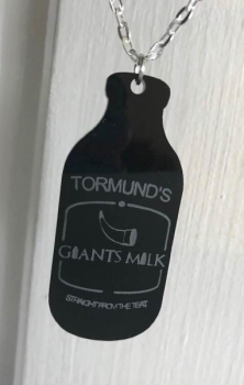 """GIANTS MILK"" Necklace - Game Of Thrones Inspired"