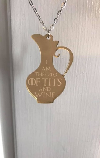 The God Of Tits And Wine Necklace - Game Of Thrones Inspired