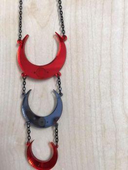 Moon Glyph Triple Necklace