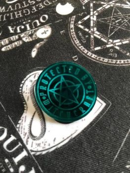 Protected By Witchcraft Pin Badge