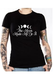 The Moon Made Me Do It T Shirt