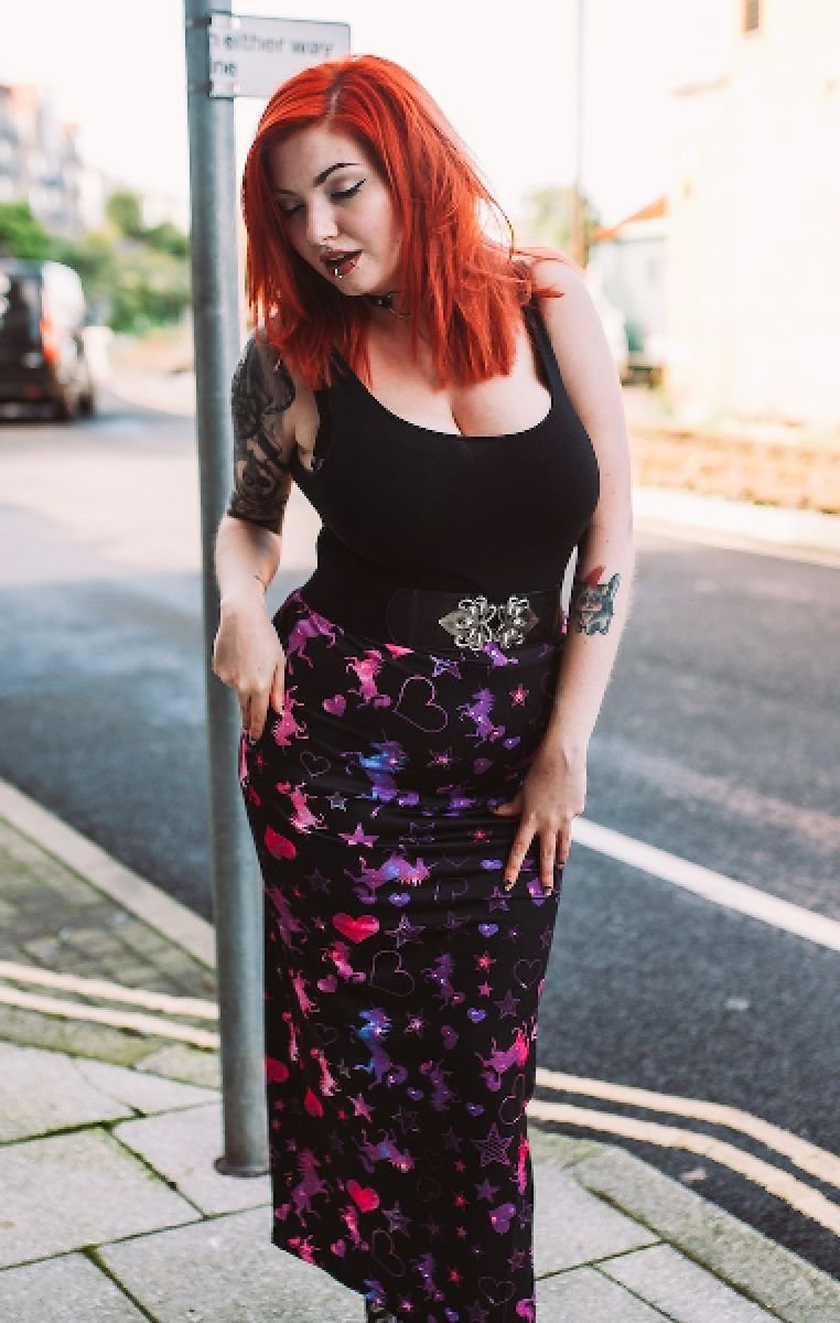 Unicorn Galaxy Maxi Skirt
