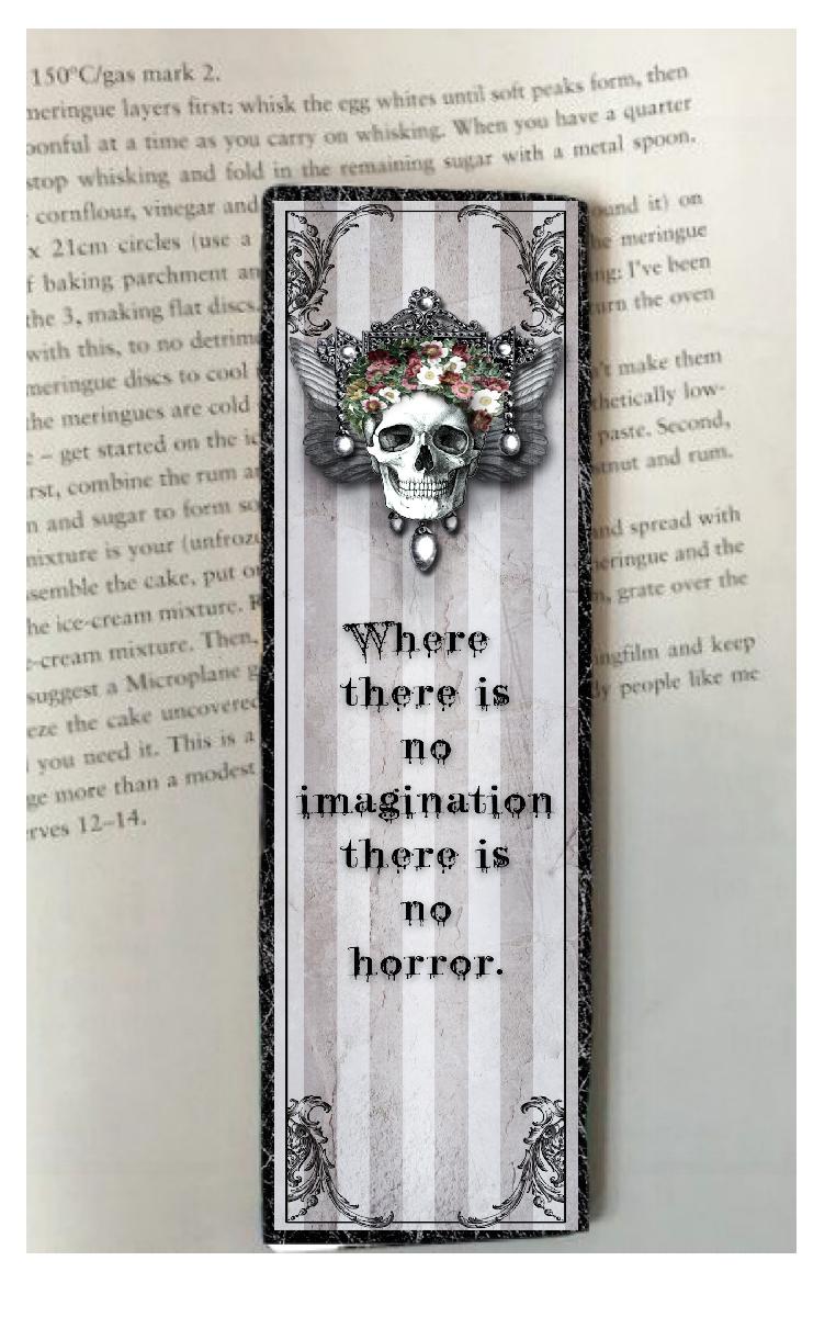 No Imagination Bookmark