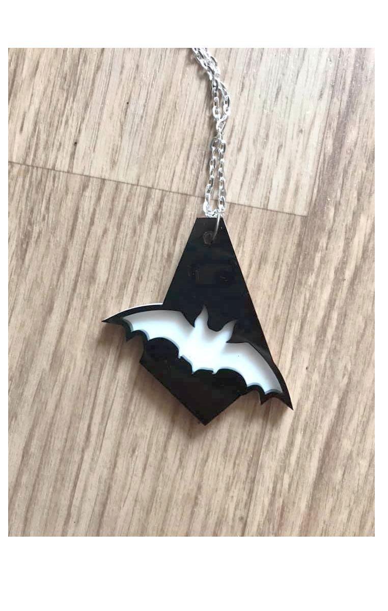 Bat Drop Layered Necklace