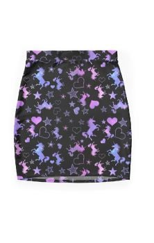 Unicorn Galaxy Pencil Skirt