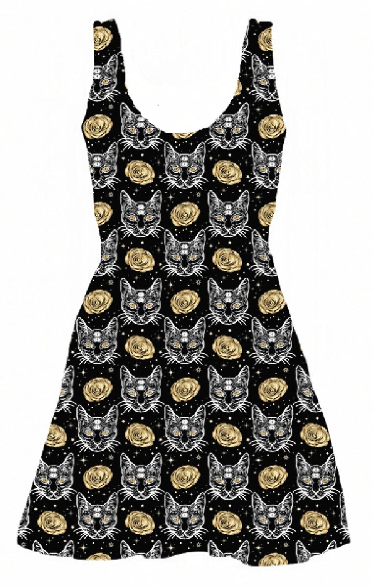 Auric Sphynx Skater Dress