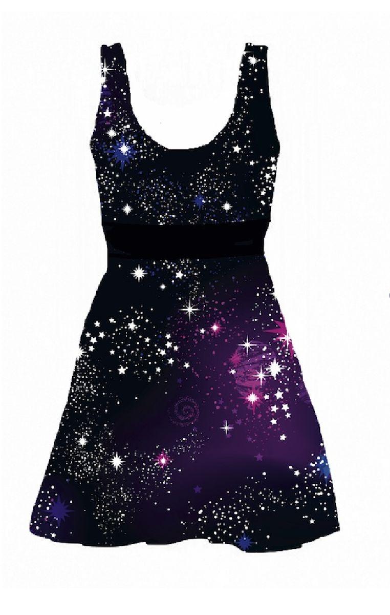 Cosmic Skater Dress
