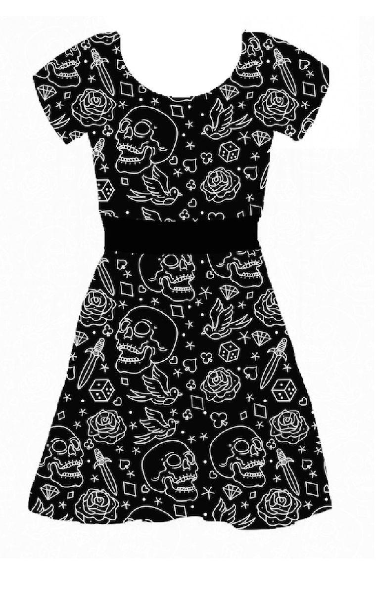 Fucking Fabulous Capped Sleeve Skater Dress
