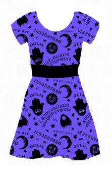 Spirit World Capped Sleeve Skater Dress